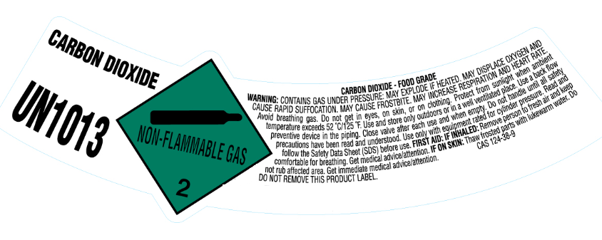 Carbon dioxide label