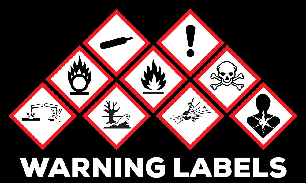 Hazard symbol GHS safety icon set