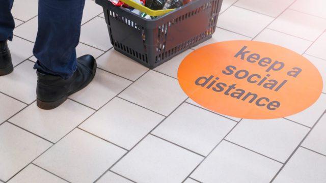 Social Distancing Floor Signage